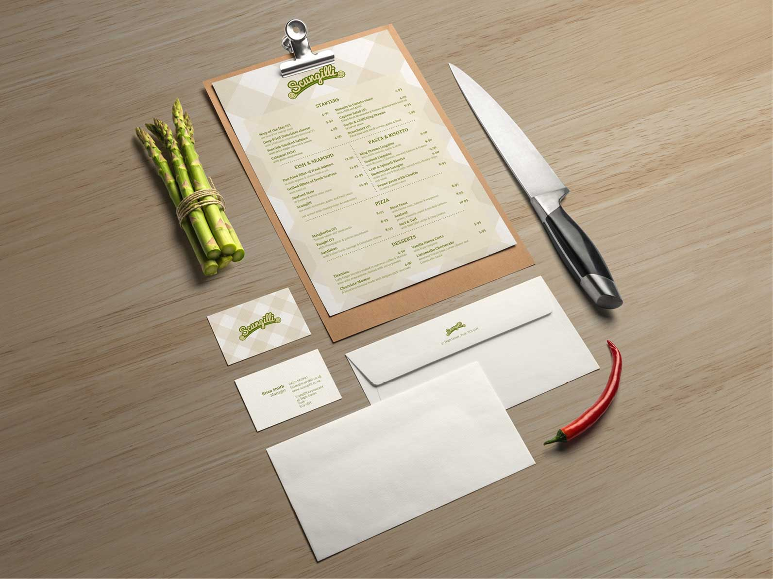 Scungilli-Menu-Design